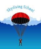 Skydiving学校,学院例证 飞将军,极端spo 免版税图库摄影