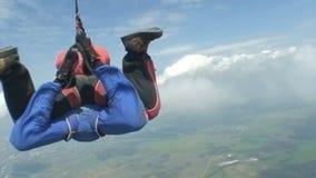 Skydiving录影。纵排。 股票录像
