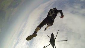 Skydiving录影。 股票视频
