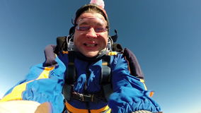 Skydiving录影 纵排 股票录像