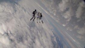 Skydiving录影 影视素材