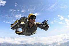 Skydiving照片。 免版税库存照片