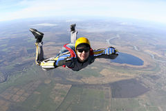 Skydiving照片。 库存照片