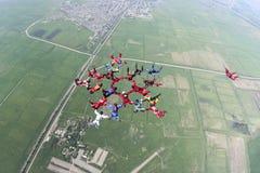 Skydiving照片。 免版税库存图片