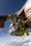 Skydiving照片。 图库摄影