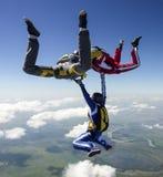 Skydiving照片。 免版税图库摄影