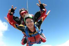 skydiving的照片 免版税库存图片