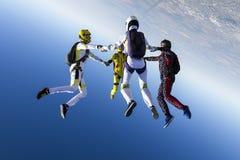 skydiving的照片 免版税图库摄影