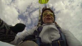 skydiving的照片 影视素材