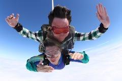 skydiving的纵排 库存图片