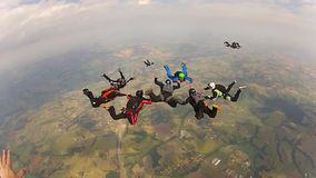 Skydiving队工作 股票视频