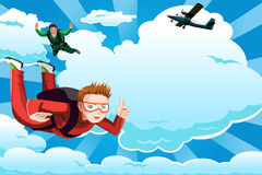 Skydiving Imagem de Stock Royalty Free