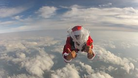 Santa Claus skydiver video stock footage