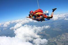 ??skydiving E 库存图片