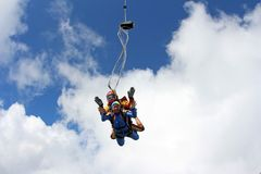 ??skydiving E 库存照片