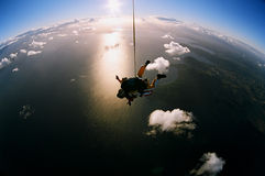 Skydiving escénico Fotografía de archivo