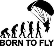 Skydiving ewolucja Urodzona latać ilustracji