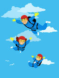 Skydiving family Royalty Free Stock Image