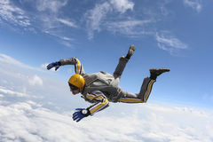 Skydiving foto. royaltyfri bild