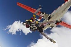 Skydiving Foto. lizenzfreie stockfotos