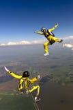 Skydiving foto. royaltyfri fotografi