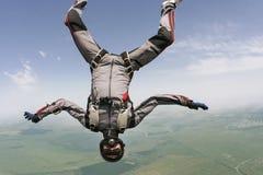 Skydiving foto. arkivfoton