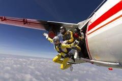 Skydiving foto. Arkivbild