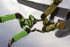Skydiving foto. royaltyfri foto