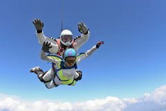 Skydiving Foto. Tandem. Lizenzfreies Stockfoto