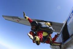 Skydiving Foto. Tandem. Stockbilder