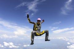 Skydiving fotografia. Zdjęcia Royalty Free