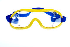 Skydiving goggles. On white background royalty free stock image