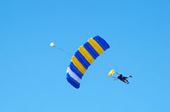 Skydiving het achter elkaar Royalty-vrije Stock Afbeelding