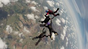 Skydiving 4 manierteam royalty-vrije stock foto