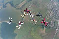 Skydiving photo Stock Photo