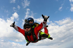 Skydiving photo Stock Photography