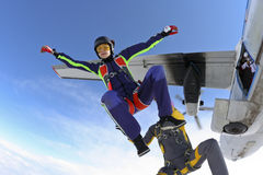 Skydiving photo Stock Images