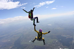 Skydiving photo Royalty Free Stock Images