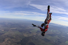 Skydiving photo. Royalty Free Stock Photos