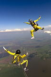 Skydiving photo. Royalty Free Stock Photography