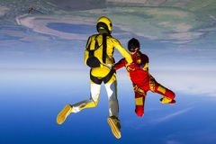 Skydiving photo. Stock Image