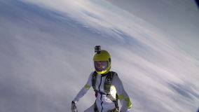 Skydiving photo. stock video footage