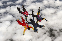 Skydiving photo. Royalty Free Stock Image
