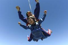 Skydiving photo. Tandem. Royalty Free Stock Image