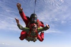 Skydiving photo. Tandem. Stock Photos