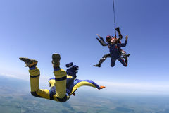 Skydiving photo. Tandem. Stock Image