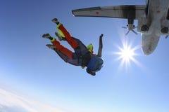 Skydiving photo. Tandem. Royalty Free Stock Photos