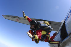 Skydiving photo. Tandem. Stock Images