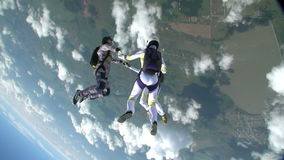 Skydiving photo. stock footage