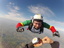 Skydiving pov Stock Photos